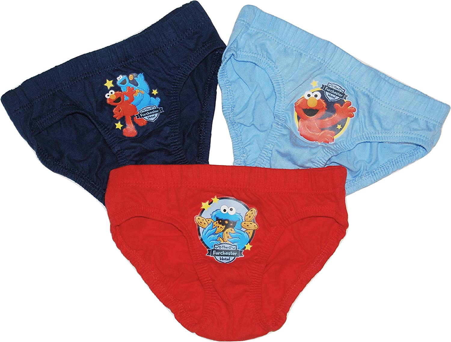 Boys Furchester Hotel Pants Briefs Sesame Street 3 Pairs