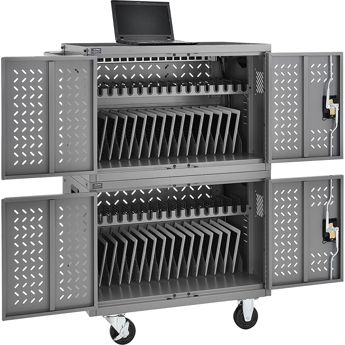 Chromebooks Laptops and iPad Tablets Charging Cart, 32-Device Capacity