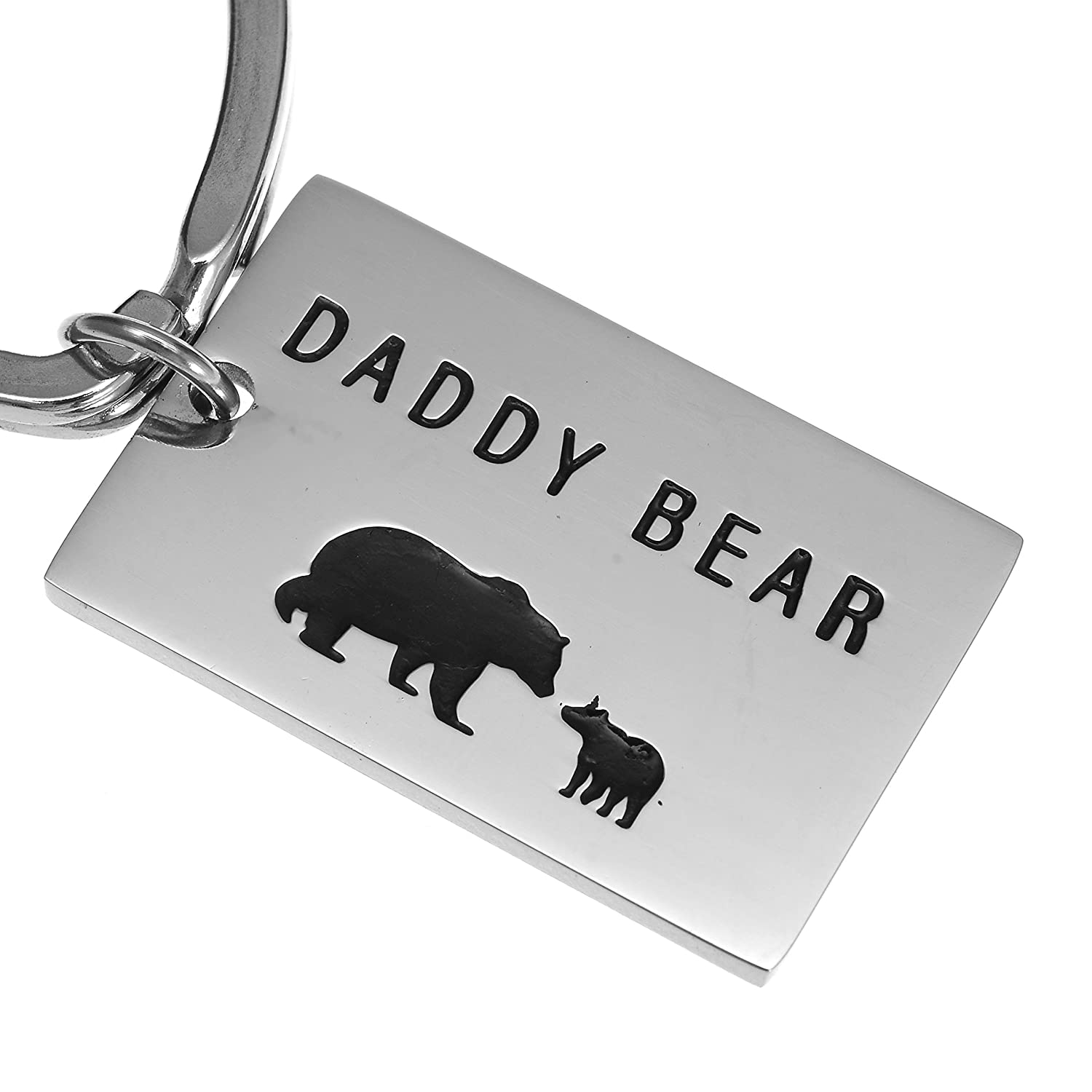 Daddy Bear Keychain with Heart Ring SandyToes