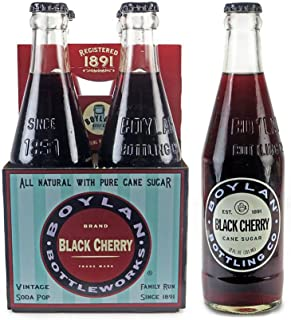product image for Boylan Black Cherry Soda, 12 fl oz (12 Glass Bottles)
