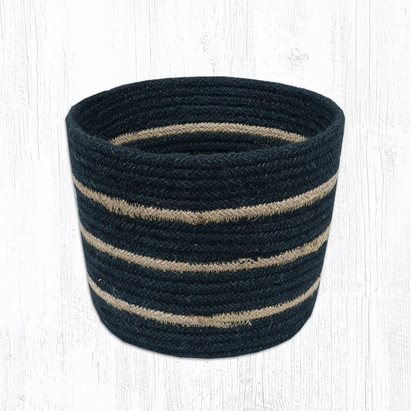 Black Round Basket 6 in. by 7 in.