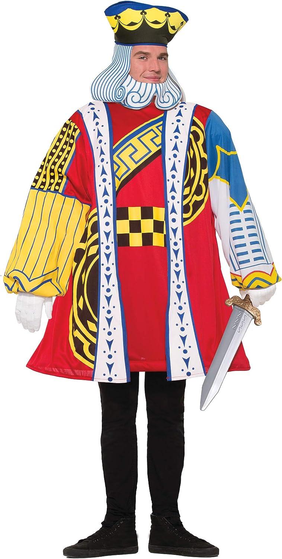 Mens King Of Hearts Alice Poker Playing Card Halloween Kings Costume Wonderland