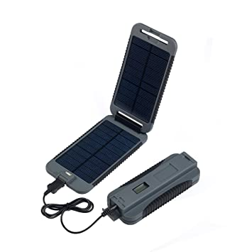 PowerTraveller PowerMonkey eXtreme - Cargador solar portátil, capacidad 9000 mAh USB 5V DC 12V, color gris