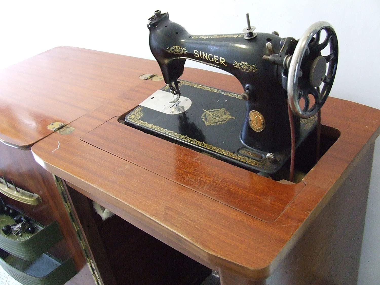 Singer máquina de Coser Completa de Mueble de Radio Usado: Amazon ...