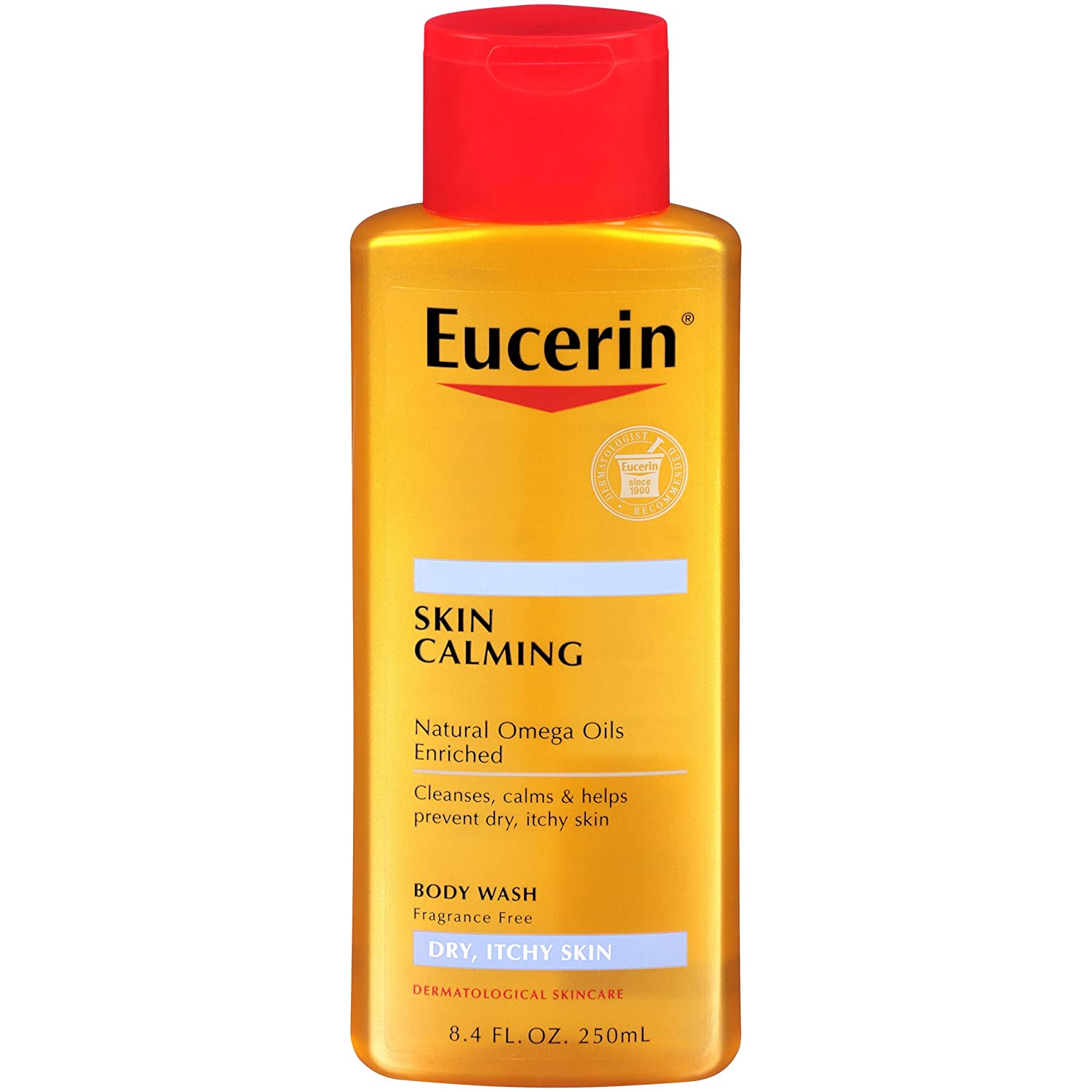 Eucerin Calming Body Wash Daily Shower Oil, 8.4 oz by Eucerin (Pack of 5) 63605