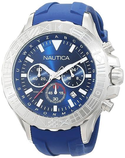 Nautica Reloj Analógico para Hombre de Cuarzo con Correa en Silicona 0656086081510: Amazon.es: Relojes
