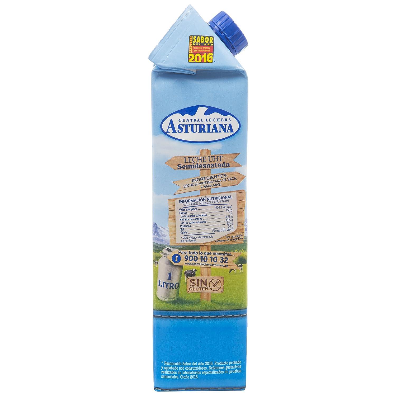 Central Lechera Asturiana - Leche Semidesnatada Brik 1L (Pack 6): Amazon.es: Alimentación y bebidas