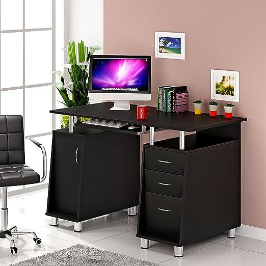 Keinode Mesa de ordenador de diseño moderno con marco de estudio ...