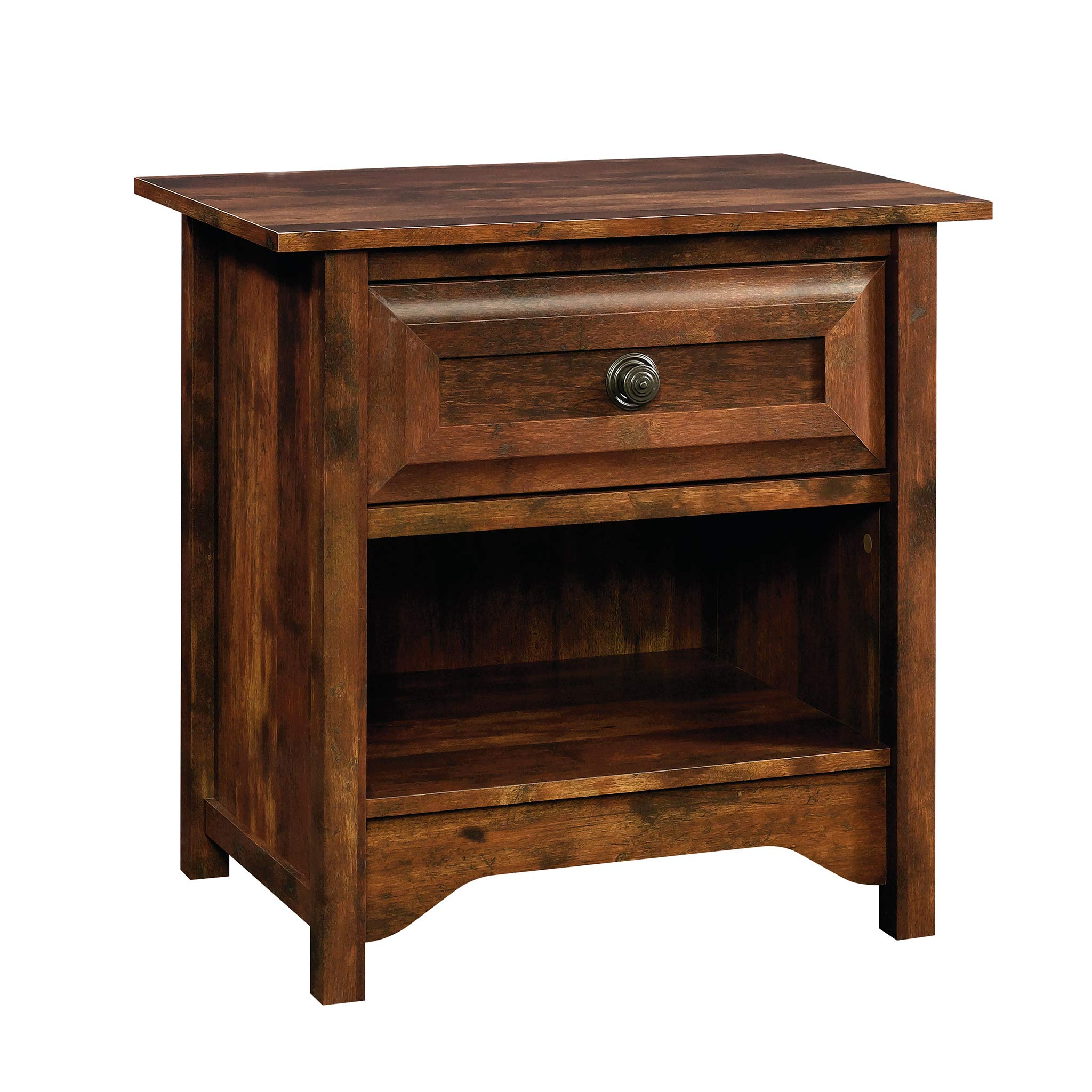 Sauder 420936 Viabella Night Stand Table, L: 26.14'' x W: 18.11'' x H: 25.75'', Curado Cherry finish