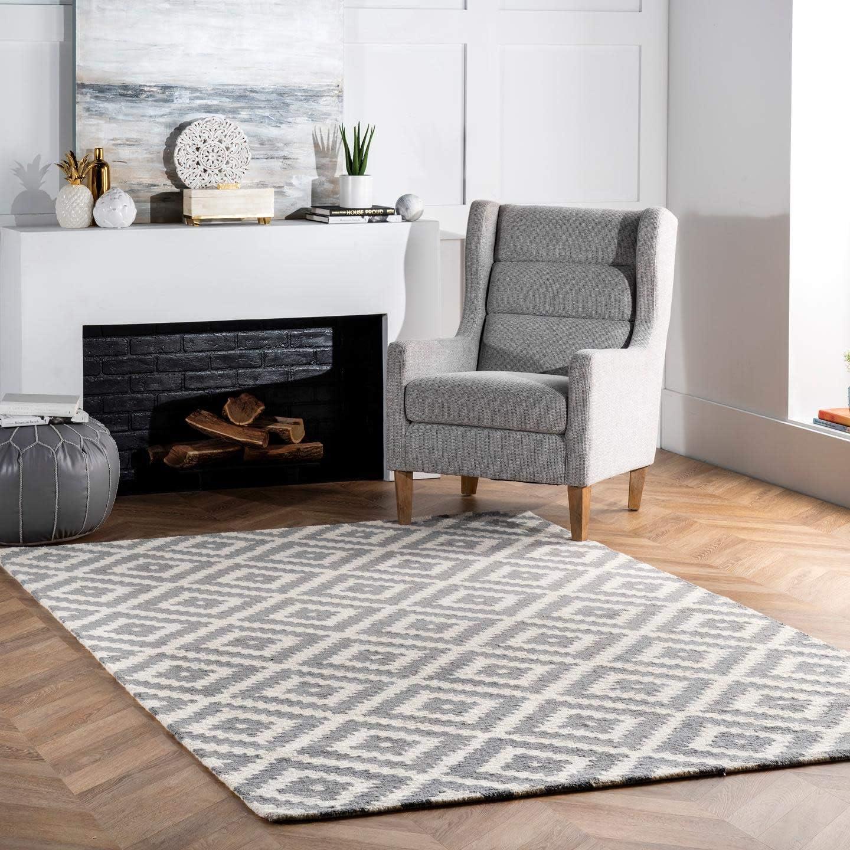 nuLOOM Kellee Contemporary Wool Area Rug, 10 x 14 , Grey