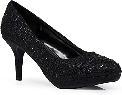 Unus Womens Low Platform Heels Comfort