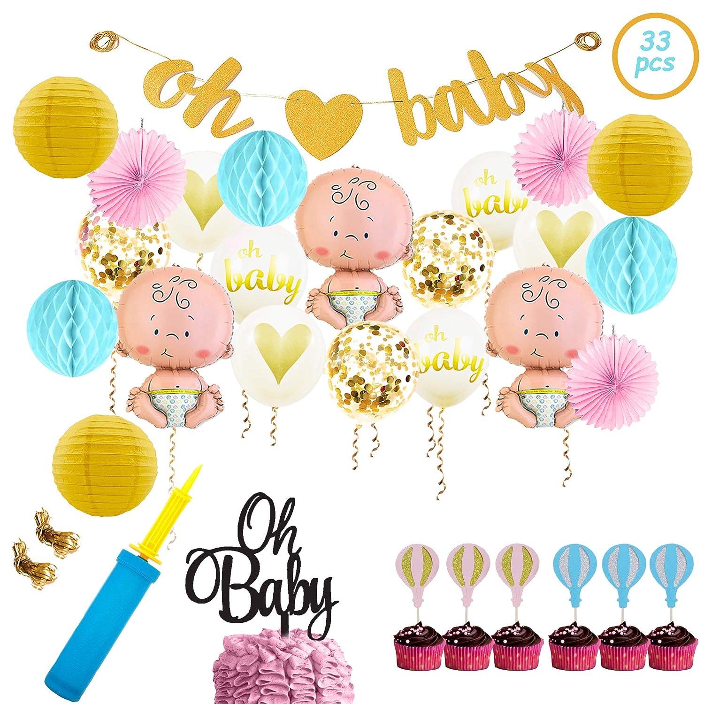 Amazon Com Baby Shower Party Decorations Kit Unisex Girls And Boys