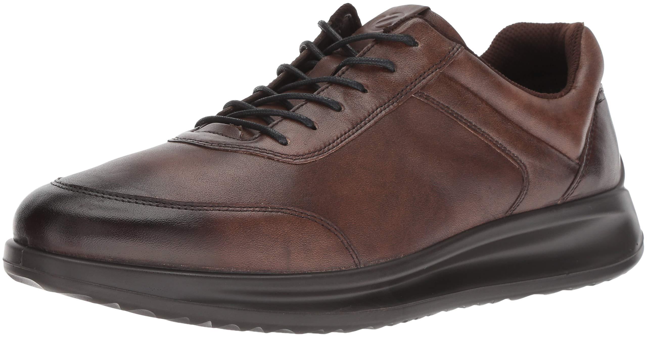 ECCO Men's Aquet Tie Oxford Cocoa Brown Sneaker 43 M EU (9-9.5 US)