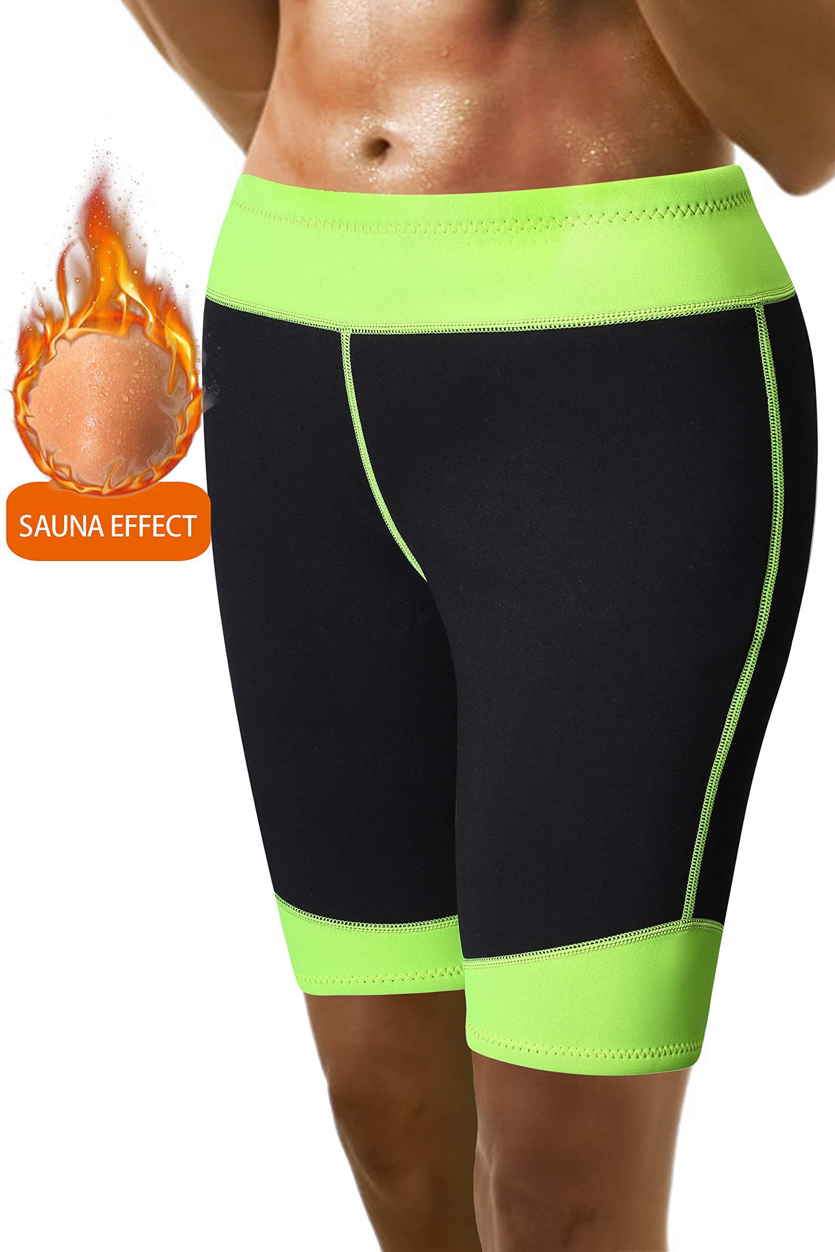 Pneacimi Women Neoprene Active Fitness Yoga Running Exercise Shorts for Weight Loss (3XL, Black)