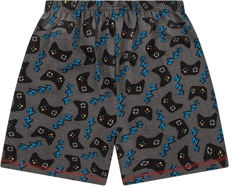 Boys Eat Sleep Game Repeat Controller Short Pajamas 10 to 15 Years AOP