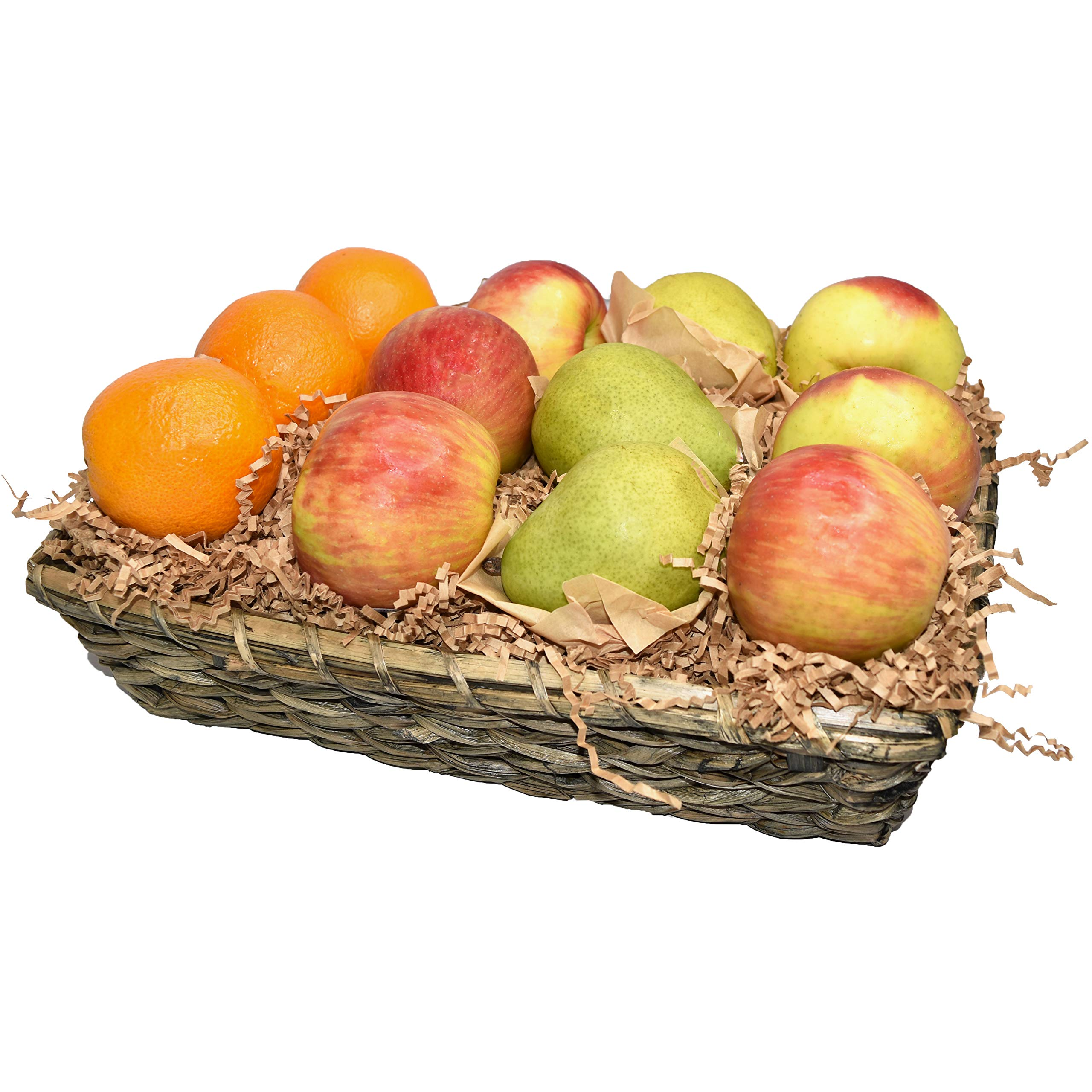 Capital City Fruit 12 Piece Signature Basket - Orchard Fresh Apples, Oranges, Pears - Perfect for Corp Gifts, Thank You, Congratulations, Birthdays, Get Well or Any Occasion