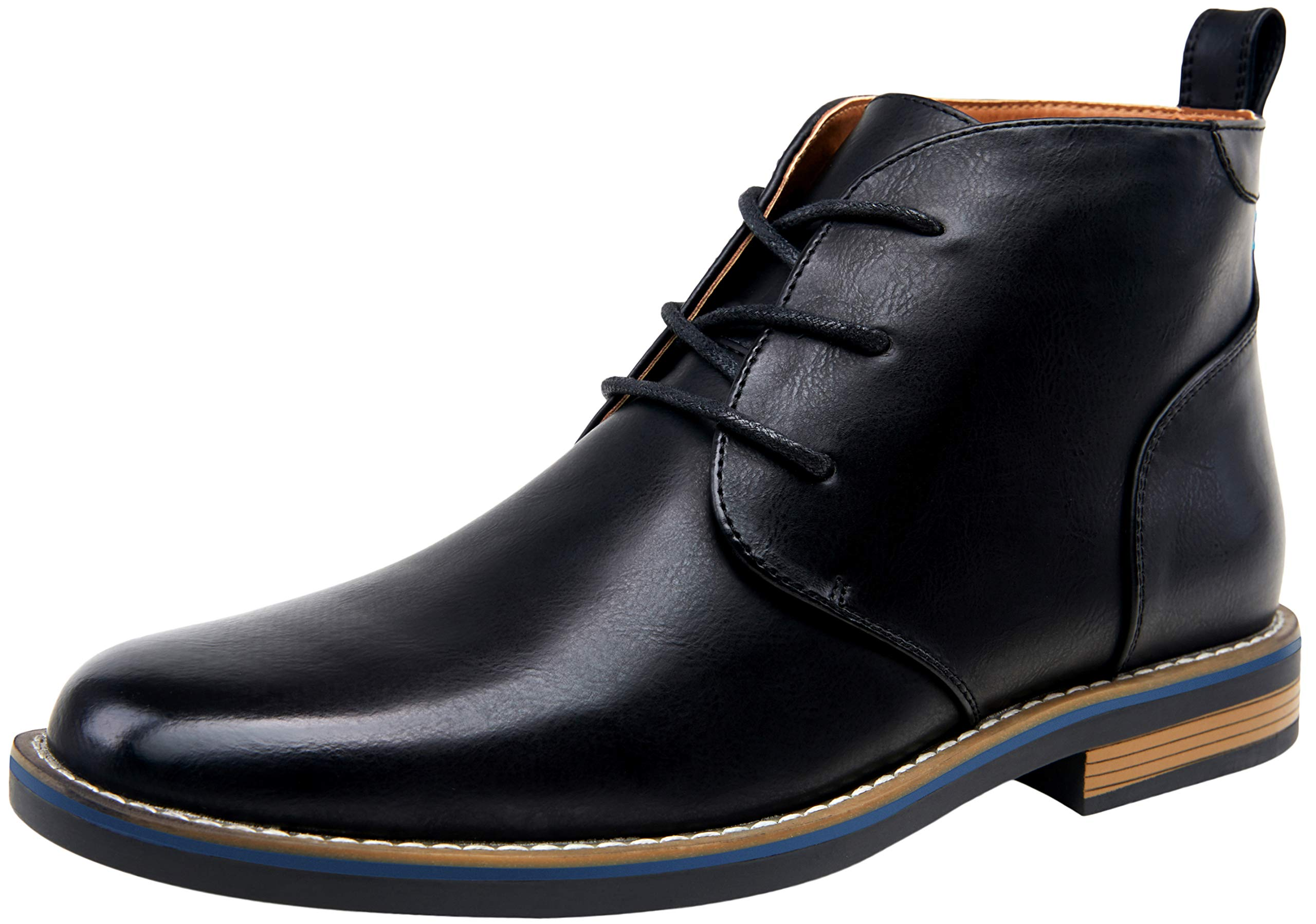 JOUSEN Men's Dress Boot Plain Toe Chukka Boots Fashion Ankle Boot for Men(11,Black) by JOUSEN