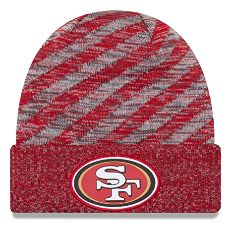 e45e20772d0 Image Unavailable. Image not available for. Color  New Era San Francisco  49ers Beanie NFL 2018 On Field TD Knit Cap ...