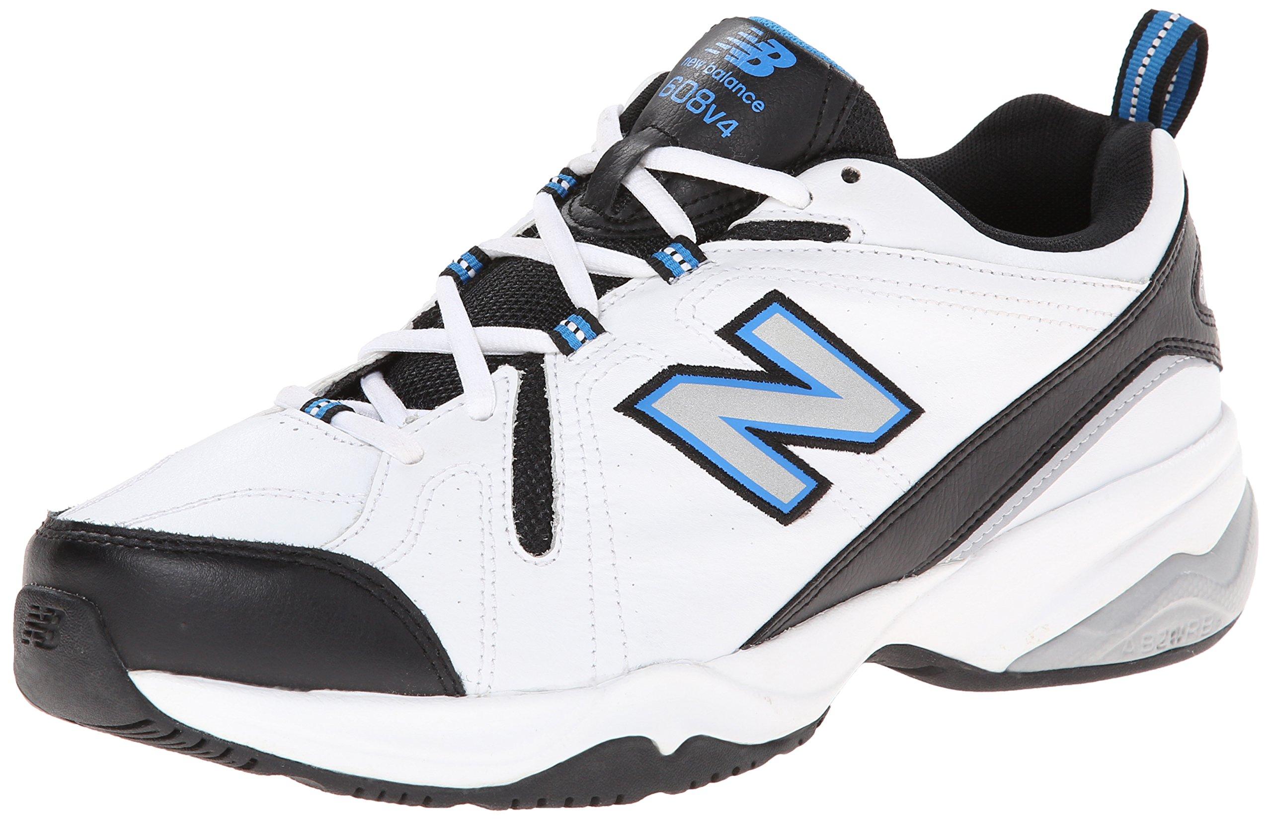 New Balance Men's MX608v4 Training Shoe, White/Royal, 7 D US