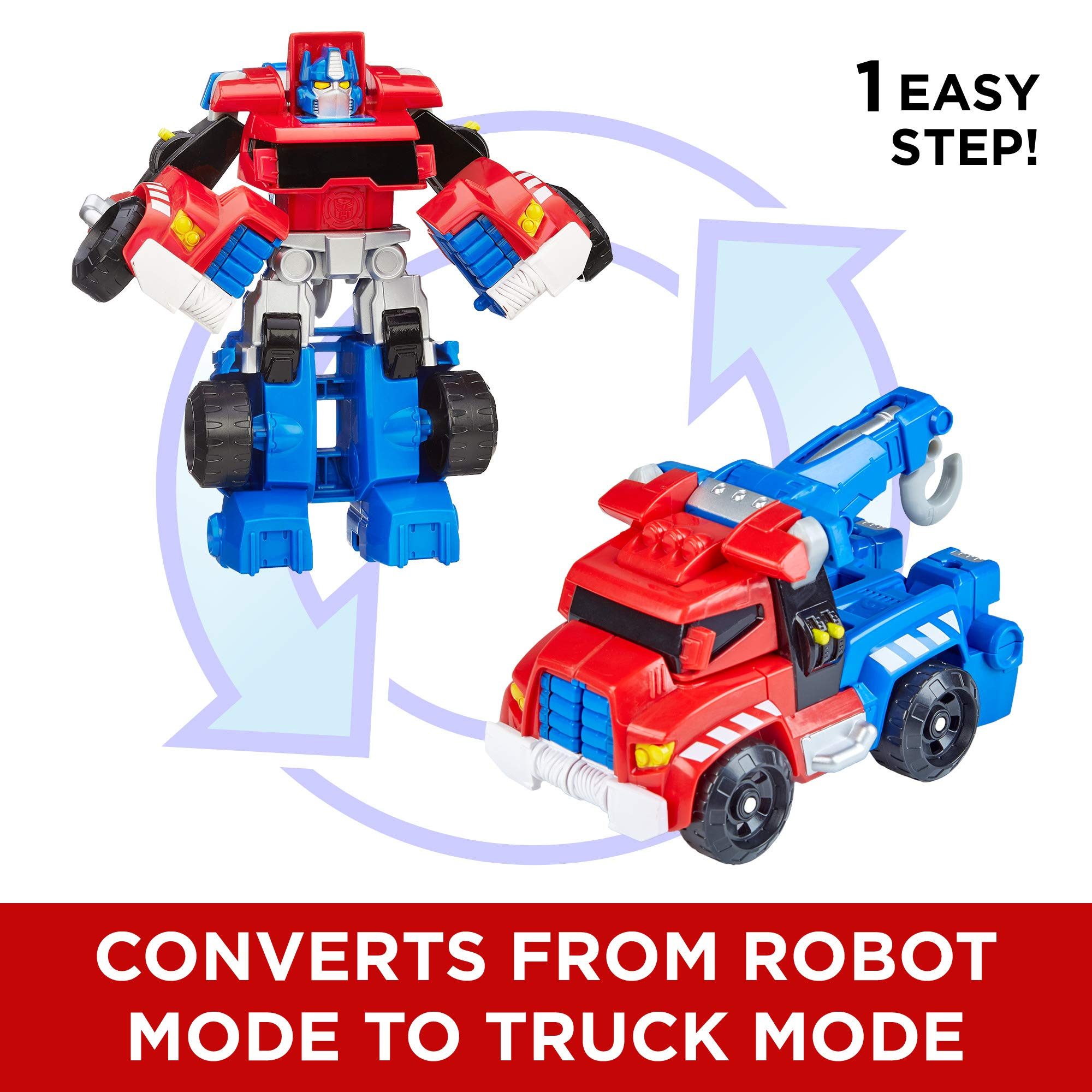 Playskool Heroes Transformers Rescue Bots Optimus Prime Action Figure, Ages 3-7 (Amazon Exclusive) by Playskool (Image #4)
