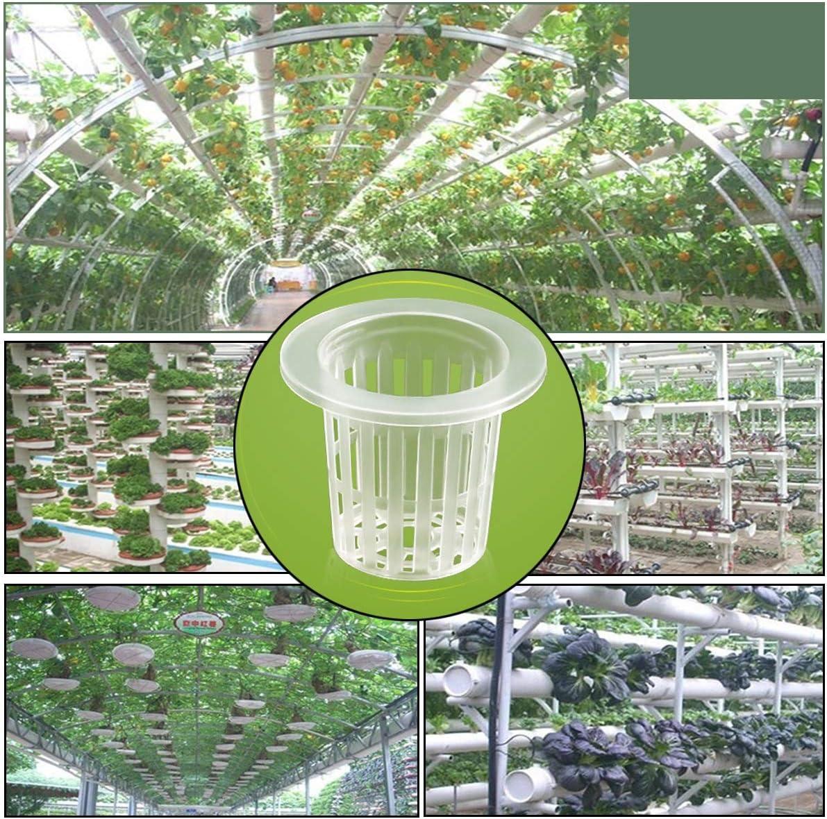 HiodFhip Garden Plastic Net Cups,30 Pack 2 Inch Planting Basket Cup Set, Garden Slotted Mesh Heavy Duty Wide Lip Design Net Pots for Hydroponics Aquaponics Orchids