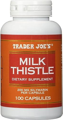 Trader Joe s Milk Thistle, 200 mg Silymarin per Capsule, 100 Capsules