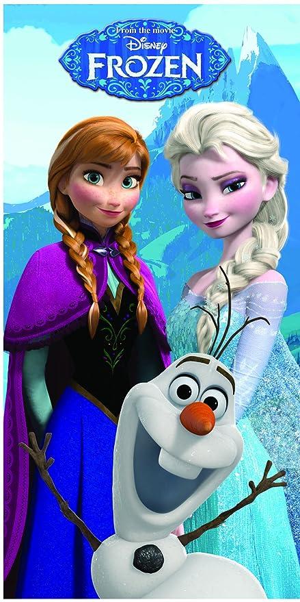 TOALLA PLAYA FROZEN. ELSA - ANA Y OLAF