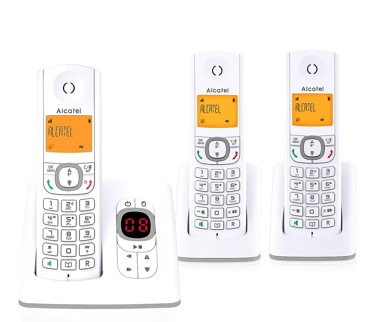 Alcatel F530 Té lé phone sans Fil Ré pondeur avec Deux combinent Supplé mentaires Gris 3700601417098