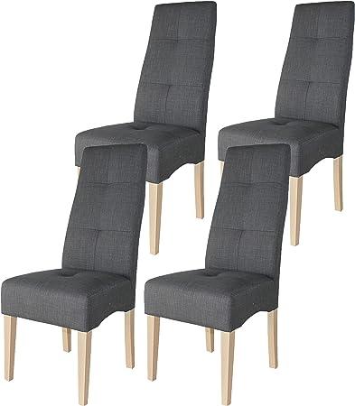 Miroytengo Pack 4 sillas Comedor salón Modernas Tela Color Gris ...