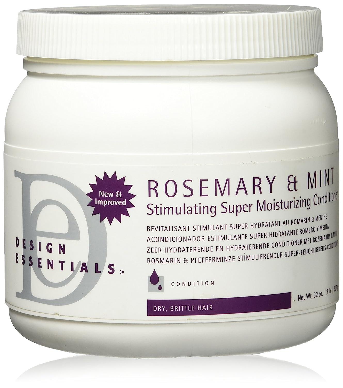 Design Essentials Rosemary & Mint Super Moisturizing Ultra Stimulating Conditioner Best for Medium to Coarse Textures-Insane Moisture for Dry Hair - 6oz.