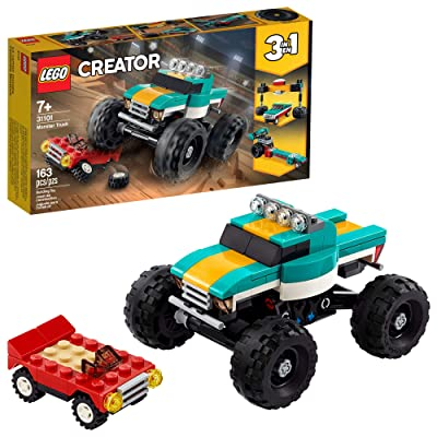LEGO Creator 3in1 Monster Truck Toy 31101 Cool Building Kit for Kids, New 2020 (163 Pieces): Toys & Games [5Bkhe1005847]