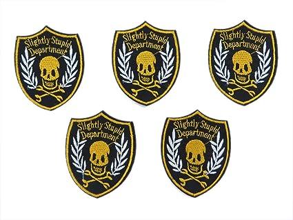 Amazon.com: 5pcs slightly stupid department pirate skull crossbones
