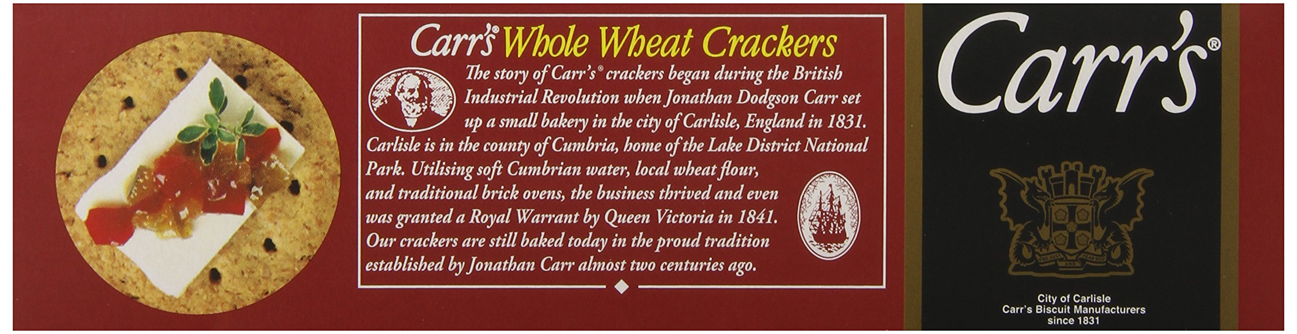 Carr's Whole Wheat Crackers, 7-Ounce Boxes (Pack of 6) by Carr's (Image #4)