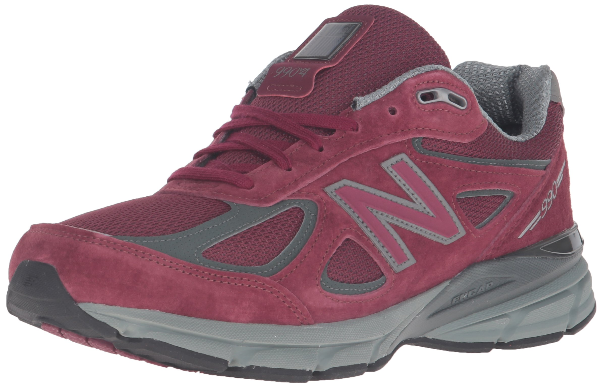 New Balance Men's M990BU4 Running Shoe,Burgundy,13 D US