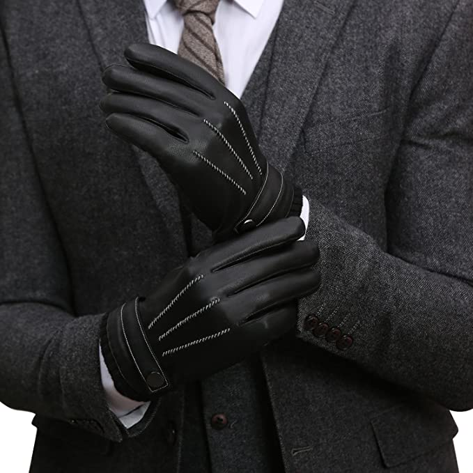 fdd9ee98c9de5 GSG Mens Nappa Leather Gloves Luxury Touchscreen Driving Gloves ...