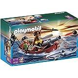 Playmobil Piratas - Bote pirata con tiburón (5137)