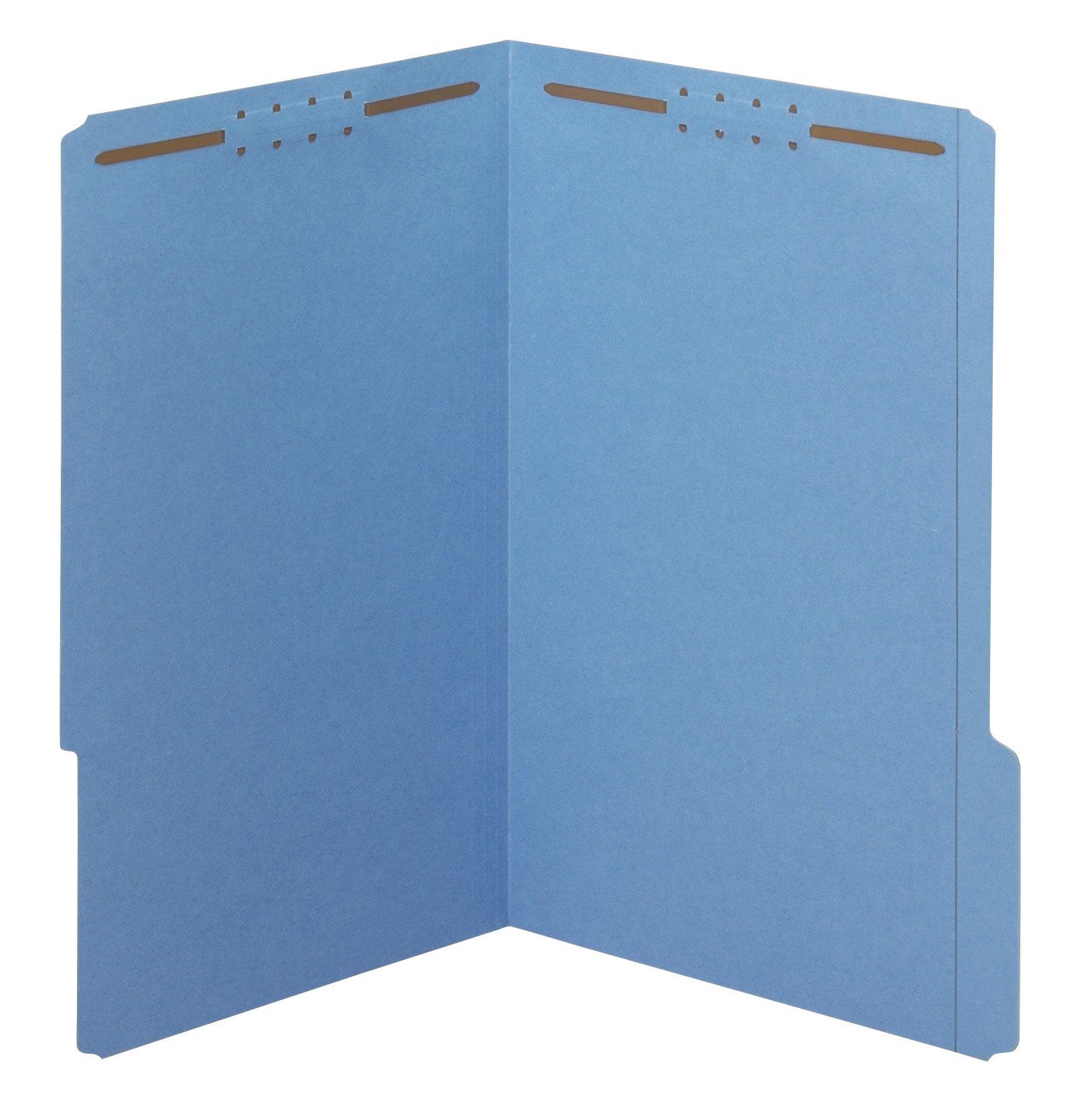 Pendaflex Fastener Folders, 1/3 Cut, Reinforced Tab, 2 Fasteners, Legal Size, Blue, 50 Folders Per Box (27040) by Pendaflex