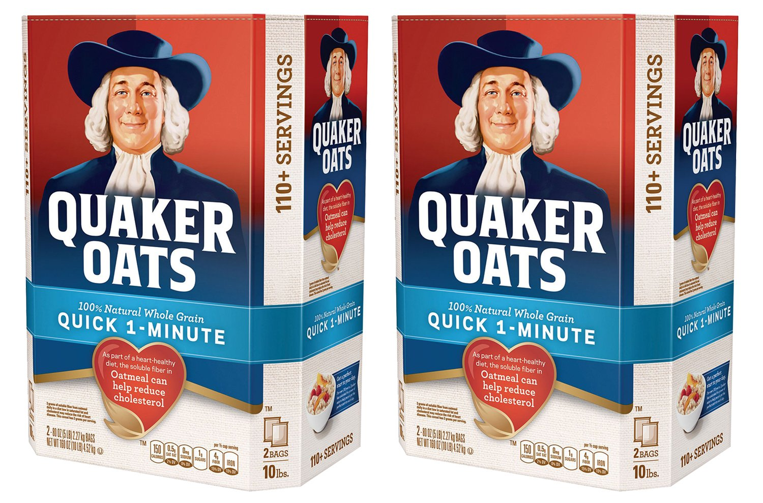 Quaker Oats 100% Whole Grain Quick 1-Minute Oatmeal Instant Oatmeal - 10 Pounds - Pack f 2 by Quaker