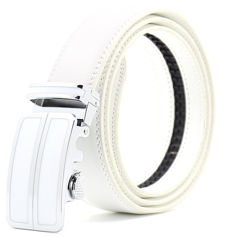 Ayli Mens Dress Belt Genuine Leather Ratchet Belt with Automatic Buckle
