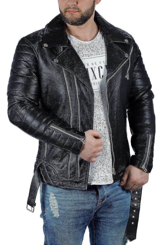 black  Echtleder L Reichstadt Men's Comfortable Fit Jacket Black Black