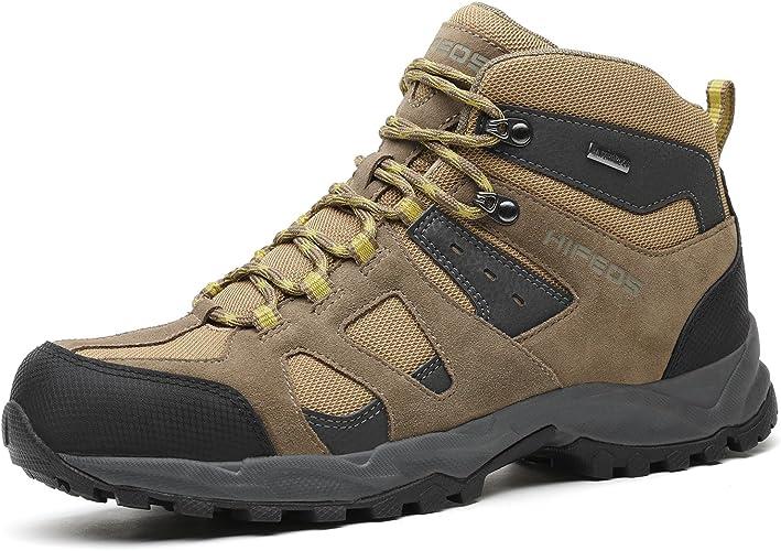 HIFEOS Wanderschuhe Herren rutschfeste Trekkingschuhe Maenner Bequeme Trekkingschuhe Herren Leichte Wanderschuhe Herren Wasserdicht Outdoor Schuhe