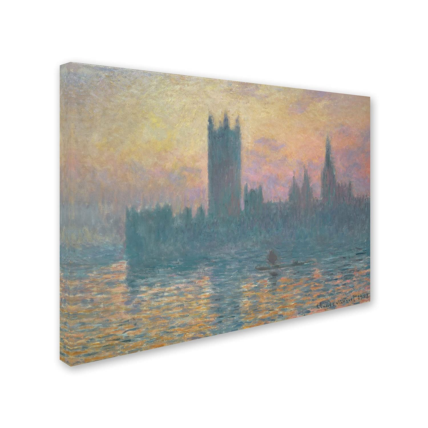 The Houses of Parliament, Sunset Artwork by Claude Monet, 35 by 47-Inch Canvas Wall Art