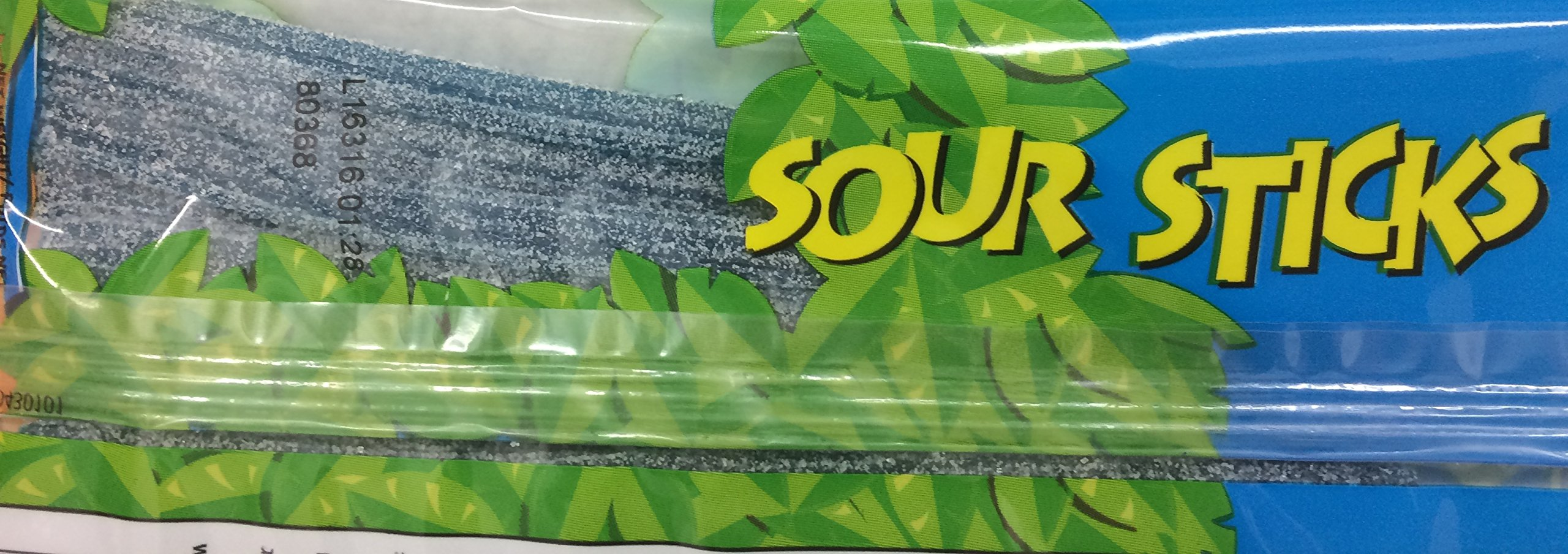 Paskesz Sour Sticks Raspberry Flavored Sticks 3.5 Oz. Pack Of 3.