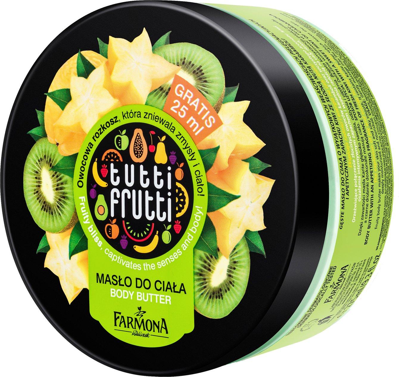 Body Mantequilla Tutti Frutti Kiwi & Estrella fruta reichhaltige Cuerpo Mantequilla con sheabu tter, 275 ml: Amazon.es: Belleza