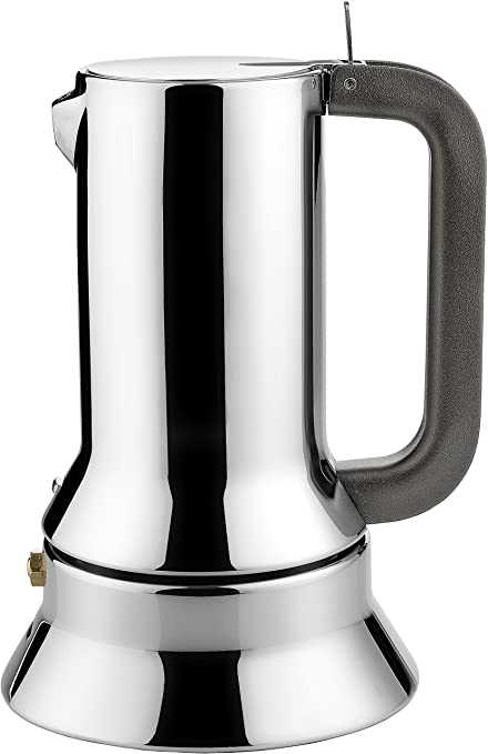 Alessi 9090/3 - Cafetera italiana de acero inoxidable brillo 18/10 con base