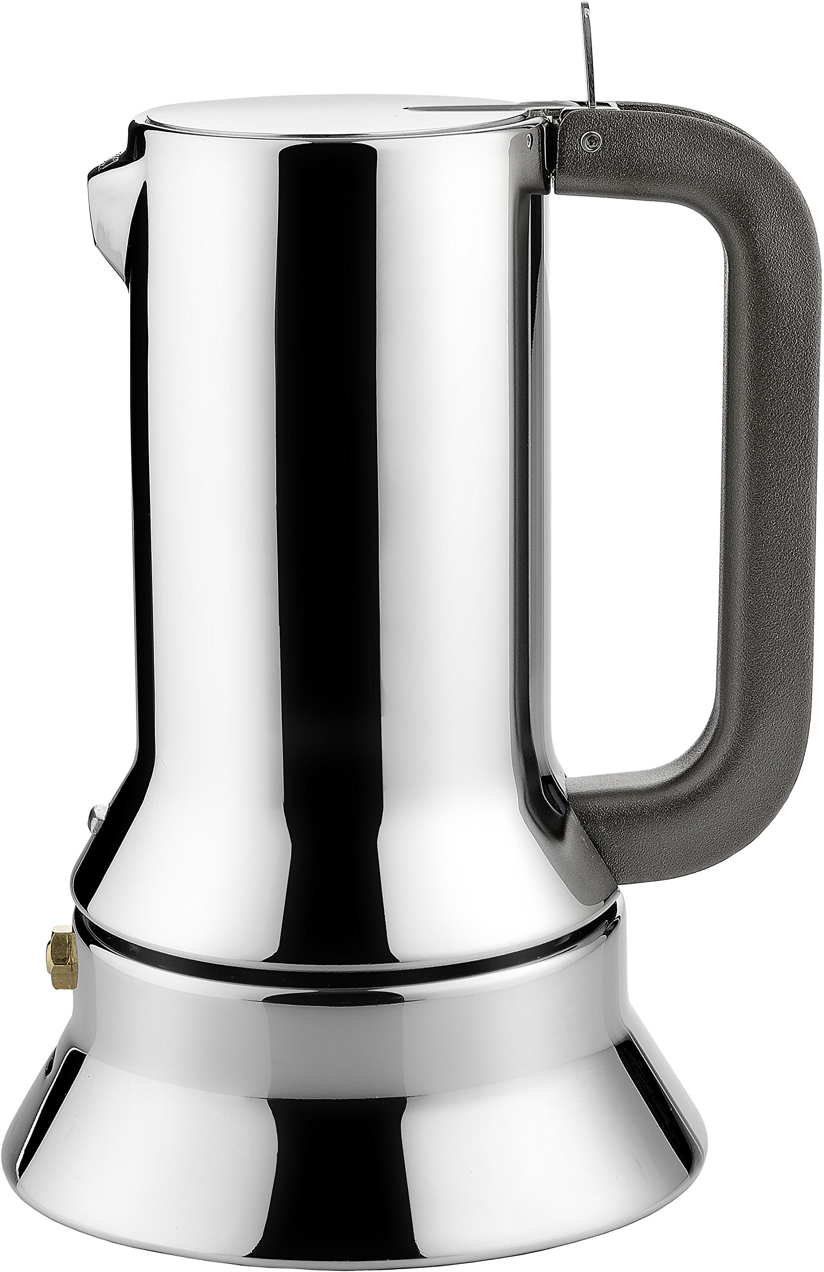 Alessi 9090/3 Stove Top Espresso 3 Cup Coffee Maker in 18/10 Stainless Steel Mirror Polished With Magnetic Bottom Suitable For Induction Cooking, Silver