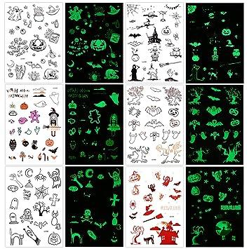 Halloween Tatuajes Temporales Para Niños (150 pzas), Howaf ...