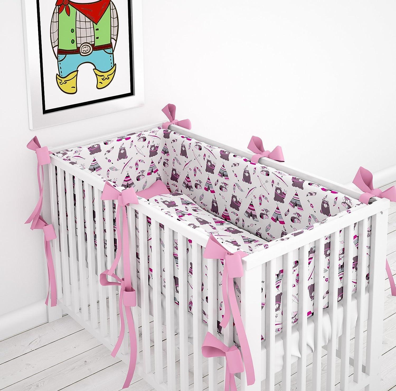 Tour de lit tour de lit à 360° pour le lit bébé 60x 120cm Protection de la tête Klara Brist