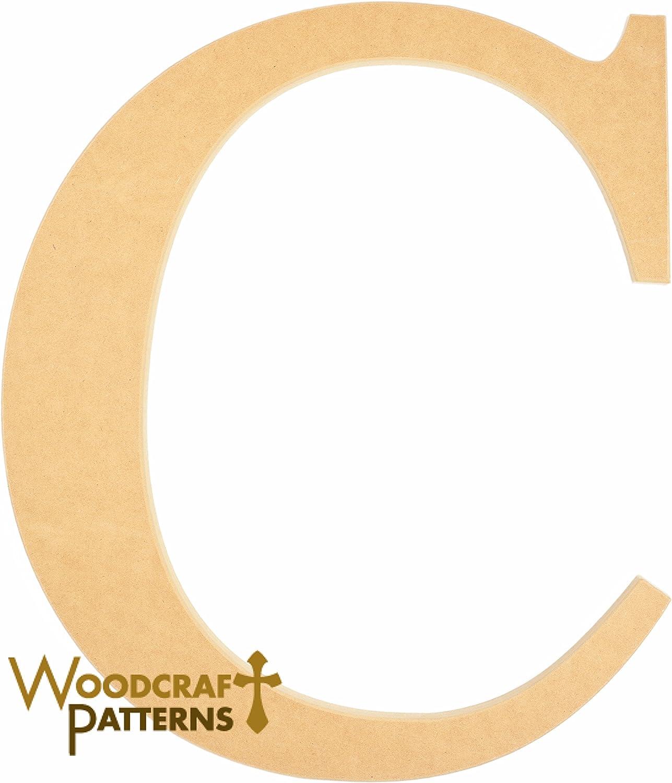Amazon Com 6 Wood Times New Roman Capital Letter C Unfinished