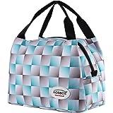 Aosbos Sac Isotherme Femme Sac à Déjeuner Lunch Bag Repas Thermique avec Style Carreux